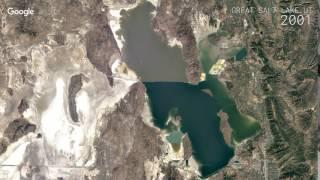 Download Google Timelapse: Great Salt Lake, UT Video