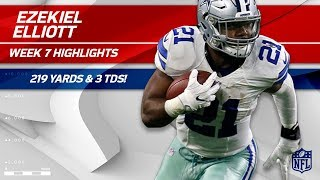 Download Ezekiel Elliott Explodes for 219 Total Yards & 3 TDs! | Cowboys vs. 49ers | Wk 7 Player Highlights Video