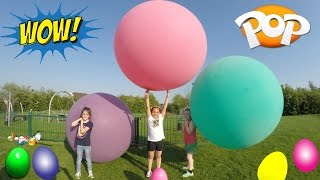Download Super Giant Balloons Toy Challenge Race - Outdoor Playground Fun - Huge Surprise Egg Opening Video