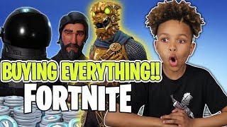 Download KID BUYS EVERYTHING IN FORTNITE STORE!! FREE V BUCKS Video