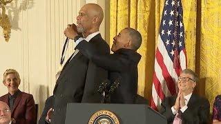 Download Kareem Abdul-Jabar Awarded Medal Of Freedom Video