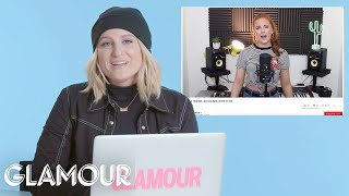Download Meghan Trainor Watches Fan Covers On YouTube | You Sang My Song | Glamour Video
