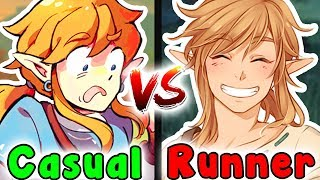 Download Casual VS Speedrun - THE GREAT PLATEAU (Legend Of Zelda Breath Of The Wild) Video