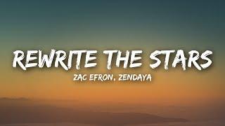 Download Zac Efron, Zendaya - Rewrite The Stars (Lyrics / Lyrics Video) Video