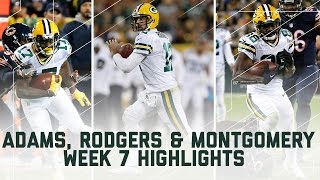 Download Aaron Rodgers & Co. Amass 500+ Yards! | Bears vs. Packers | NFL Week 7 Player Highlights Video