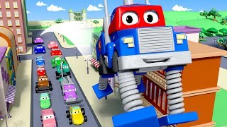 Download Carl the Super Truck is The Spring Truck in Car City| Trucks Cartoon for kids Video