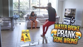 Download MY WATER BROKE PRANK GONE WRONG!!! 😳 HE LEFT ME AT THE HOUSE LMAO 😂👶🏽 Video