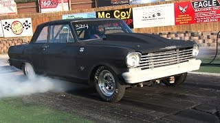 Download WHEELS UP Chevy ll Runs 9's in the 1/4 Video