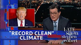Download Trump Describes Earth's Climate As 'Record Clean' Video