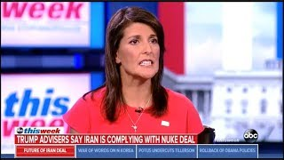 Download Nikki Haley Stumbles Through Explanation Of trump's Iran Deal Nonsense Video