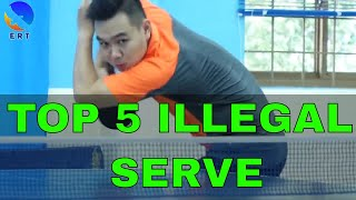 Download Top 5 Illegal Service in Table Tennis Video