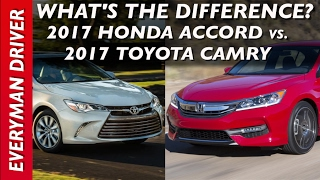 Download What's the Difference: 2017 Honda Accord vs 2017 Toyota Camry on Everyman Driver Video