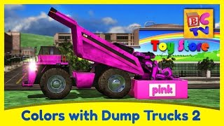 Download Learn Colors with Dump Trucks Part 2 | Educational Video for Kids by Brain Candy TV Video