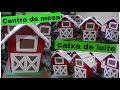 Download Centro de mesa com caixa de leite ..Tema Fazendinha Video