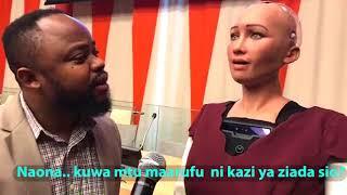 Download Maajabu ya dunia, robot Sophia azugumza kama binadamu!!! Video