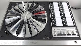 Download Fascinating Vintage 20 Cassette Carousel from 1972 : Panasonic RS-296US Video
