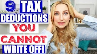 Download 9 Tax Deductions YOU CANNOT Write off When Filing Your Taxes! Video