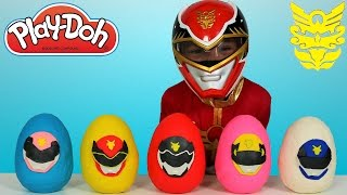 Download Power Rangers Megaforce Play-Doh Surprise Eggs Opening Fun With Red Ranger Ckn Toys Video