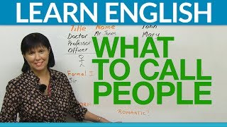 Download Speak English: What to call people Video