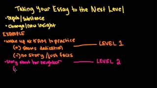 Download Taking your college essay to the next level Video