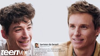 Download Ezra Miller and Eddie Redmayne Compete in a Compliment Battle | Teen Vogue Video