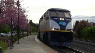Download Spring in Fremont: Union Pacific, Amtrak, ACE, and CalTrain Video