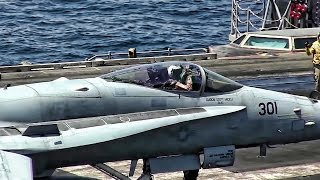 Download U.S. Aircraft Carrier Launches More Airstrikes On ISIS Video