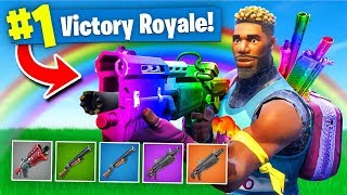 Download The *RAINBOW* SHOTGUN ONLY Challenge In Fortnite Battle Royale! Video
