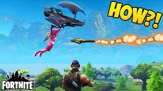 Download HIT WITH A ROCKET IN MID AIR! - Fortnite Funny Fails and WTF Moments! #131 (Daily Moments) Video