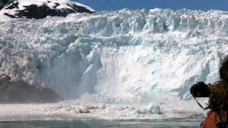 Download Glacier Calving, Huge Wave Video