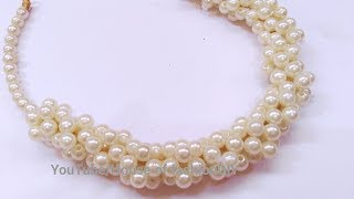 Download How To Make Pearl Necklace At Home..! Video
