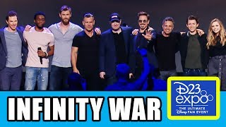 Download AVENGERS INFINITY WAR Cast Assemble At D23 Expo Video