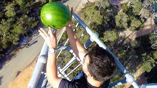 Download Watermelon Survives 45m Drop Test!! | How Ridiculous Video