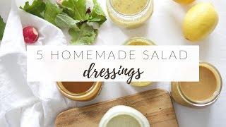Download 5 HOMEMADE SALAD DRESSINGS | easy, healthy & versatile recipes Video