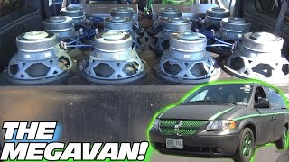 Download COOLEST Minivan EVER!!! MEGAVAN's Inverted Subwoofer BASS w/ 12 10″ Powerbass Subs & BIG EXCURSION Video