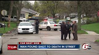Download Man found shot to death in street on Indy's east side Video