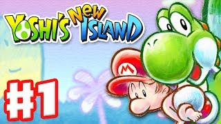 Download Yoshi's New Island - Gameplay Walkthrough Part 1 - World 1 (Nintendo 3DS) Video
