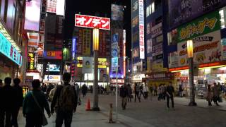 Download Akihabara, Tokyo at night [4K] - SONY A7SII Video