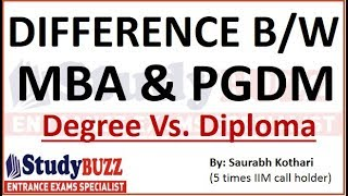 Download Difference between MBA & PGDM | Degree Vs. Diploma | Does it matter? Video
