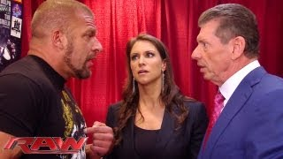 Download Raw - Triple H can't convince Stephanie and Mr. McMahon to let him compete: Raw, June 3, 2013 Video