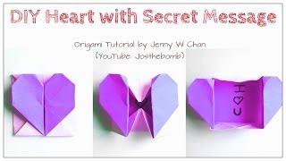 Download DIY Origami Heart Box & Envelope with Secret Message - Pop-Up Heart Video