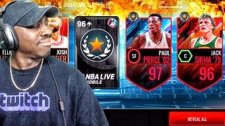 Download LEGENDARY PACK OPENING & 97 OVR PAUL PIERCE! NBA Live Mobile 16 Gameplay Ep. 116 Video