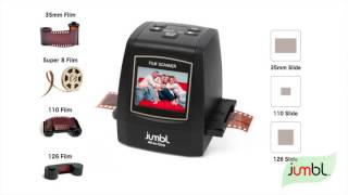 Download Jumbl 22MP All In 1 Film & Slide Scanner w Speed Video