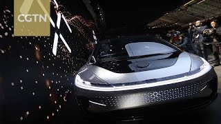 Download Chinese-backed electric car Faraday Future's debut at CES Video