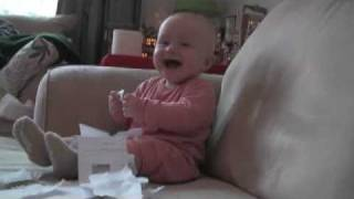 Download Baby Laughing Hysterically at Ripping Paper (Original) Video