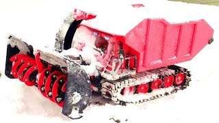 Download RC SNOW KAT goes to WORK Clearing a Path! SPYKER KAT & Blower w/ DUMP Bed | RC ADVENTURES Video