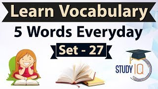 Download Daily Vocabulary - Learn 5 Important English Words in Hindi every day - Set 27 on Diatribe Video
