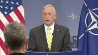 Download US Defense Sec. Mattis On Russian Interference- Full NATO Q&A Video
