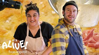 Download Brad Makes Focaccia Bread with Samin Nosrat | It's Alive | Bon Appétit Video