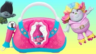 Download TONS of TROLLS Toys Playset! Poppy Boom Box with Brigette the Bergen Doll Video